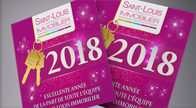Saint Louis Immobilier Carte de voeux 2018